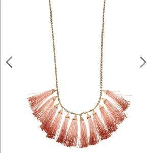 3/$20 NWT Lucky Brand Fringe Tassel Necklace